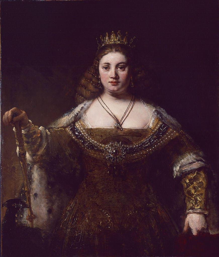 """Oeuvre de Rembrandt """"Juno"""" (1662) au musée d'art Hammer de Los Angeles."""