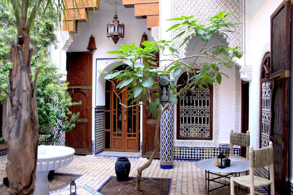 Joli cour du Riad Malida à Marrakech.