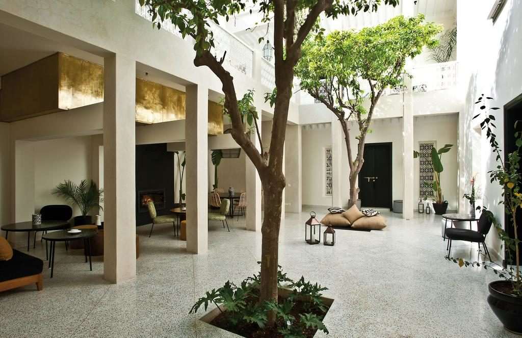 Dans le patio du Riad Numa à Marrakech.