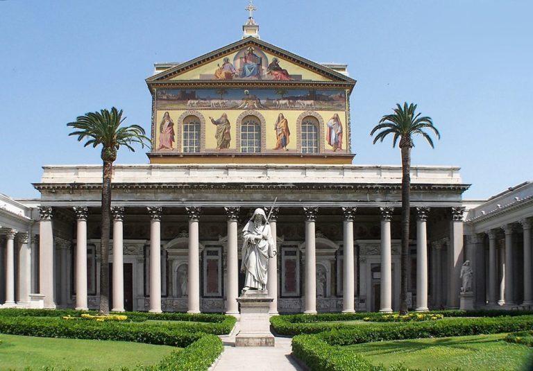 Basilique Saint Paul hors les murs dans le quartier de Testaccio-Ostiense à Rome - Photo de Berthold Werner