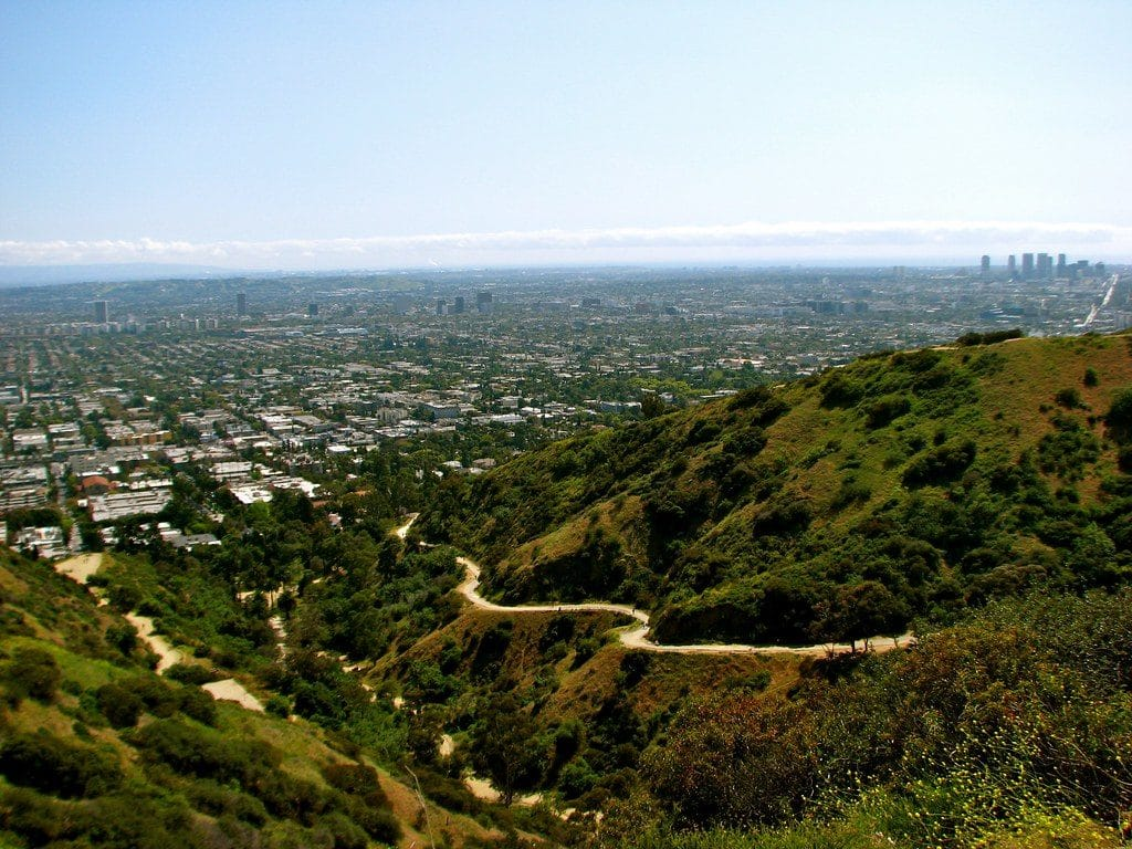 Vue depuis le Runyon Canyon Park à Los Angeles - Photo de Jeff Gunn