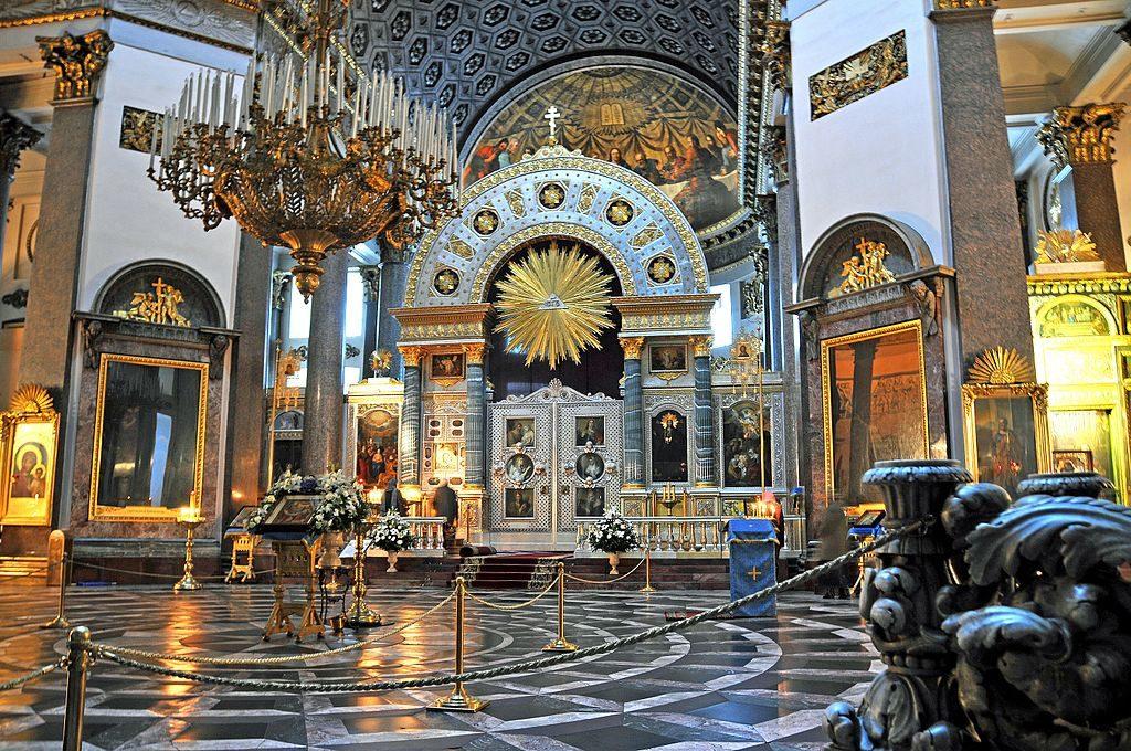 Intérieur de la cathédrale de Kazan à Saint Petersbourg - Photo de Dennis Jarvis