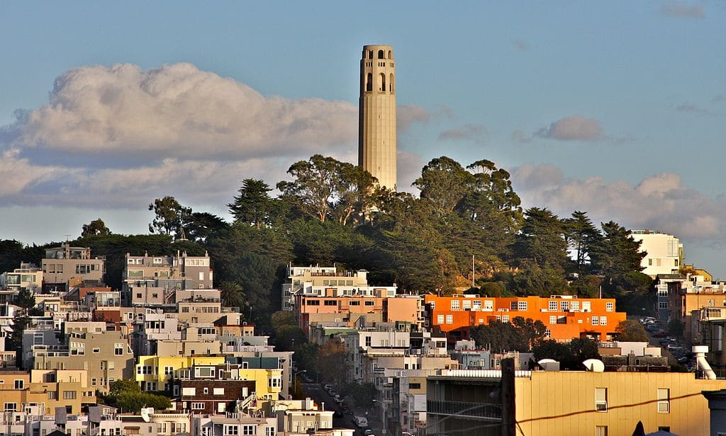 Coit Tower à San Francisco - Photo de Tony Webster.