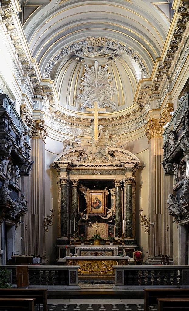 Autel de l'église Santa Maria dei Miracoli à Rome - Photo d'Alvesgaspar
