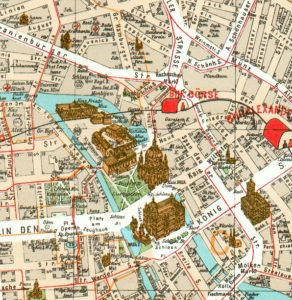 Carte de Berlin : Plan détaillé des lieux intéressants
