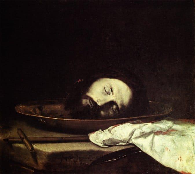"""Testa del Battista"" par Jusepe de Ribera au Musée Filangieri à Naples - Photo de IlSistemone"