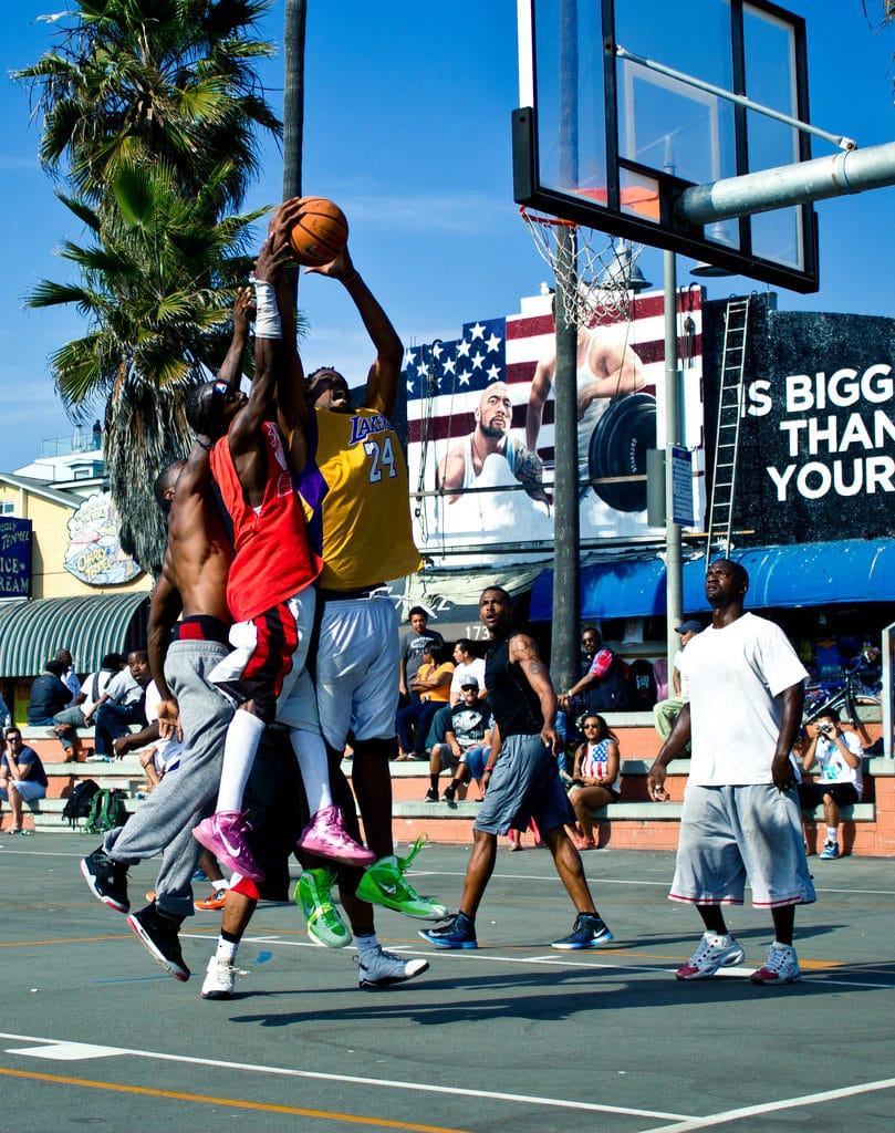 Basket à Venice Beach, Los Angeles - Photo de Thomas Sørenes
