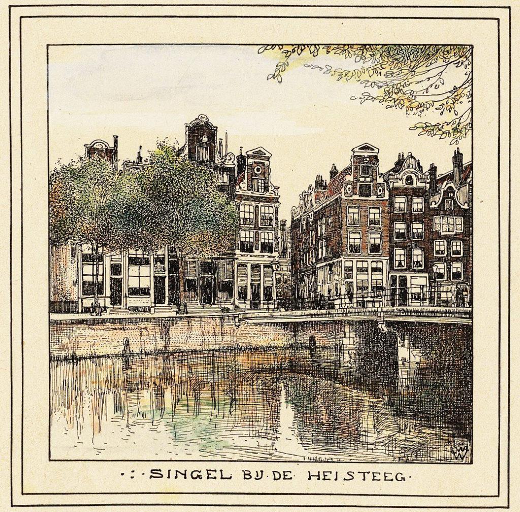 > Singel à Amsterdam en 1900 vu par Willem Wenckebach