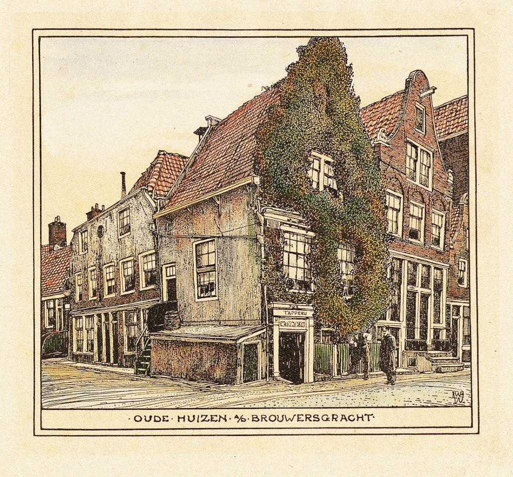 > Dans le quartier de Jordaan à Amsterdam en 1900 vu par Willem Wenckebach