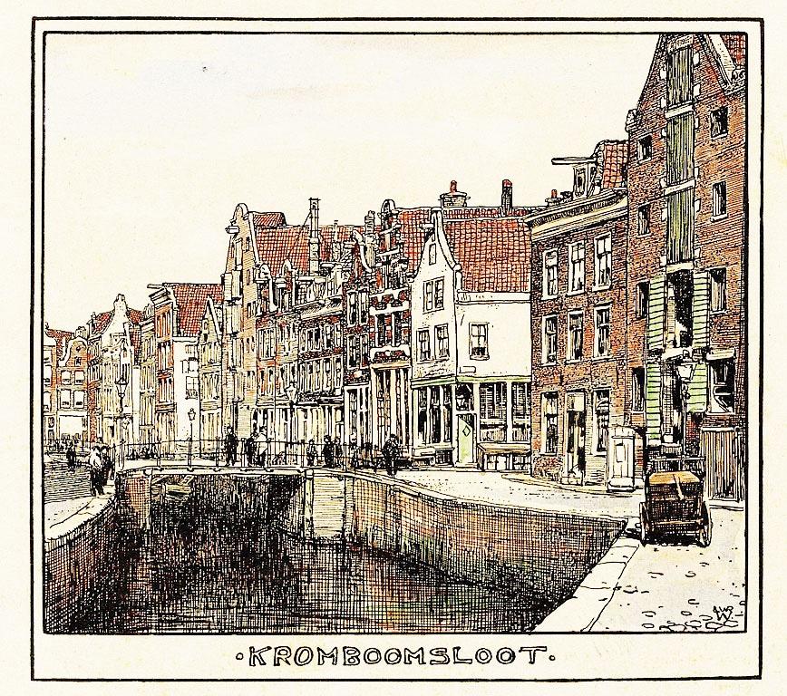 > Kromboomsloot à Amsterdam en 1900 vu par Willem Wenckebach
