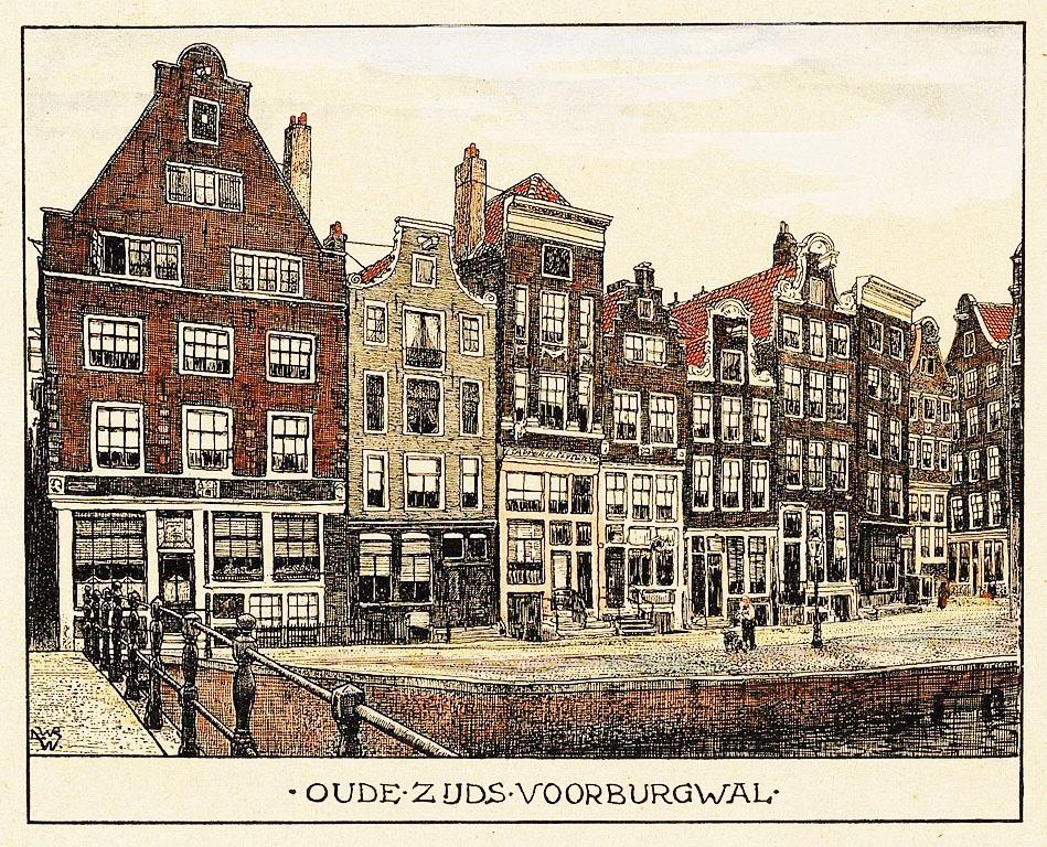 > Quartier rouge d'Amsterdam en 1900 vu par Willem Wenckebach