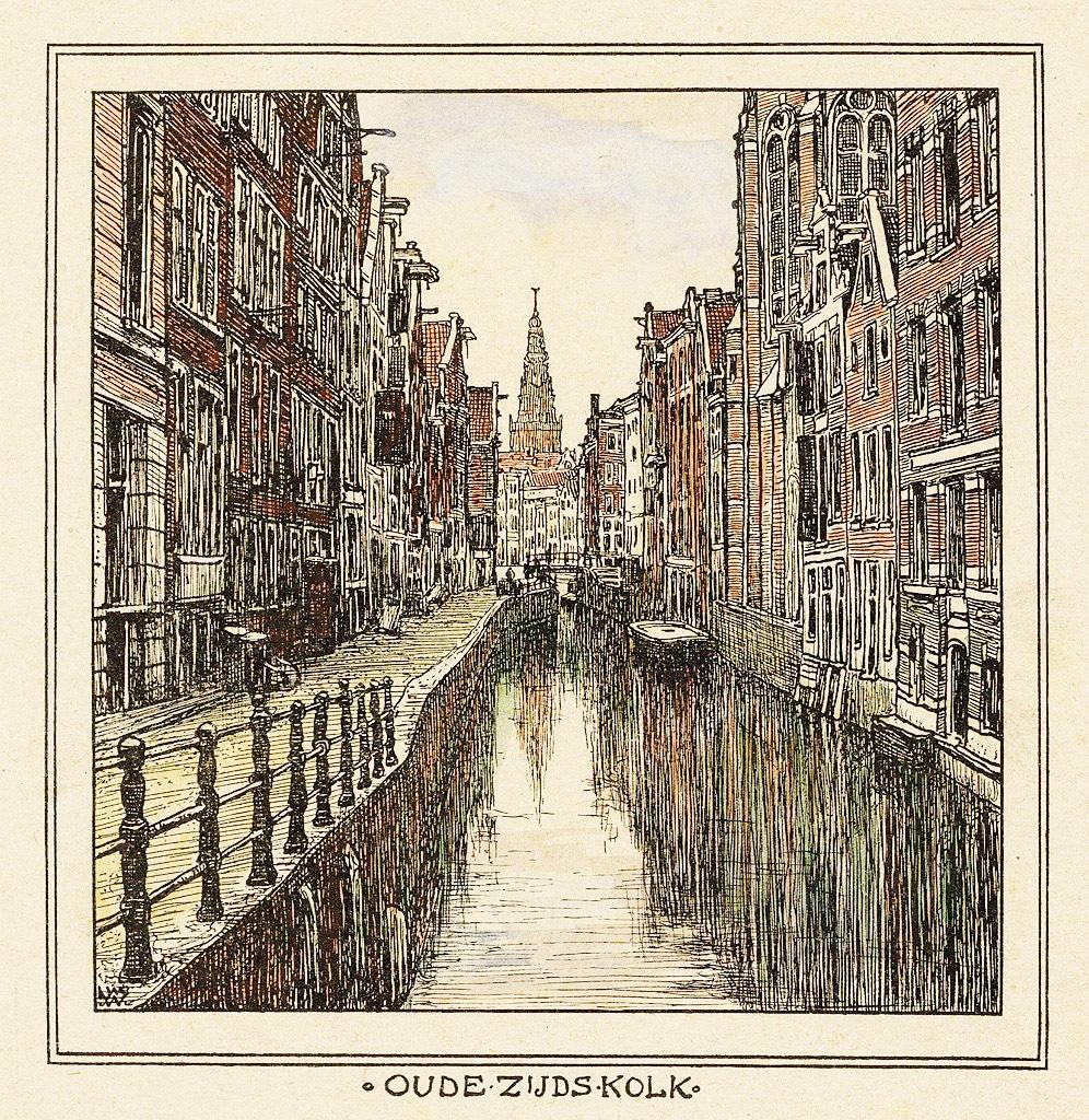 > Quartier rouge d'Amsterdam en 1900 vu par Willem Wenckebach.