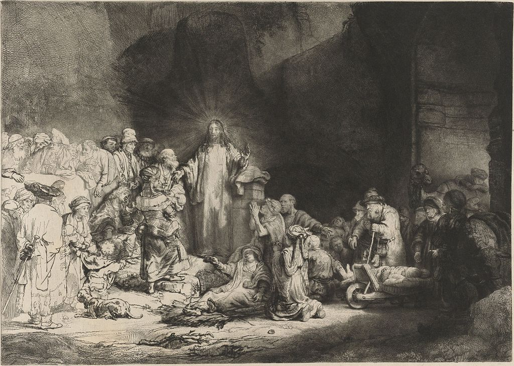 "Presque un lieu de culte insolite à Amsterdam : ""Christ Preaching (The Hundred Guilder Print)"" de Rembrandt au Rijksmuseum."