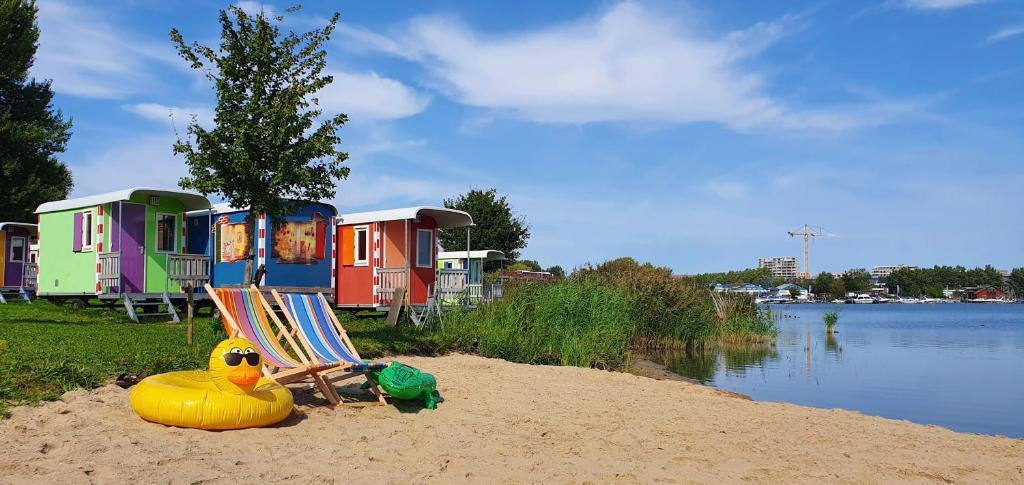 Zeeburg, camping à Amsterdam ou près d'Amsterdam.