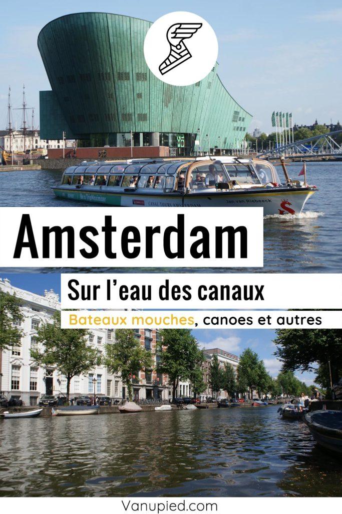 Croisière en bateaux mouches sur les canaux d'Amsterdam