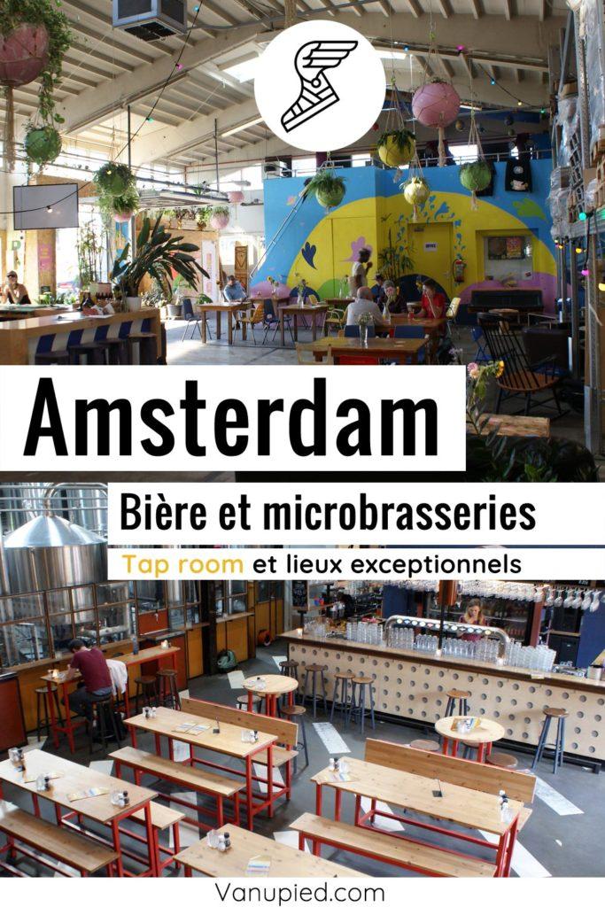 Bière et microbrasseries à Amsterdam.