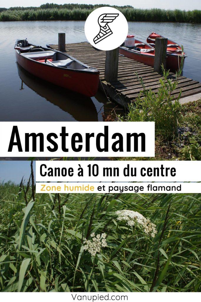 Rando-canoe dans les zones humides à 10 mn d'Amsterdam.