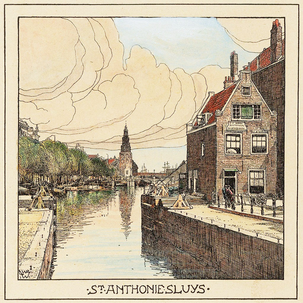 Illustration : Amsterdam en 1900 vu par Willem Wenckebach