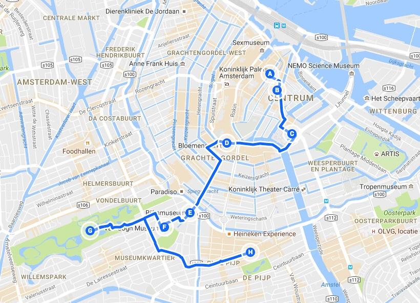 Visiter Amsterdam en 2 jours : Jour 2, du quartier Rouge au Pijp en passant par les musées.