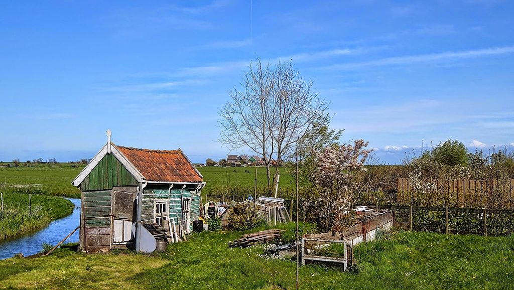 Sur l'île de Marken près de Volendam aux Pays-Bas - Photo de Ben Bender