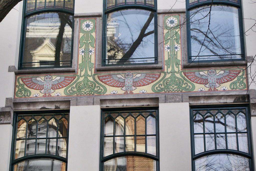 Art nouveau à proximité du Beguinage, retraite dans le coeur d'Amsterdam.