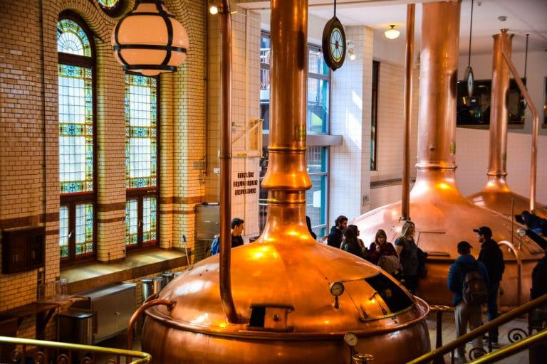 Musée et visite de la légendaire brasserie Heineken à Amsterdam. Photo de Maria Eklind.