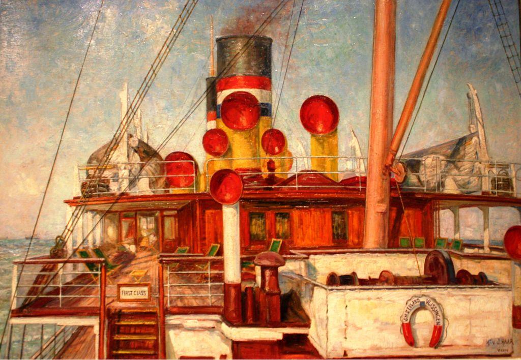 Peinture de Herman van der Haar au musée maritime d'Amsterdam.