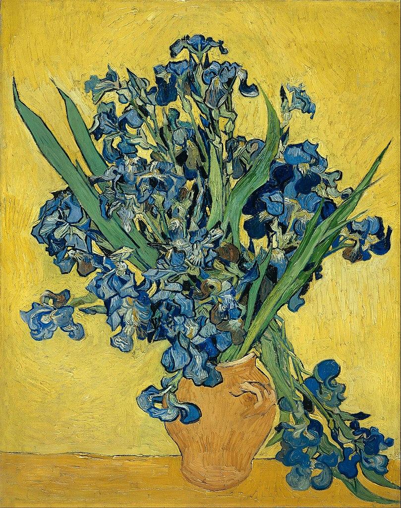 """""""Les iris"""" par van Gogh au Musée van Gogh dans le quartier des Musées d'Amsterdam."""