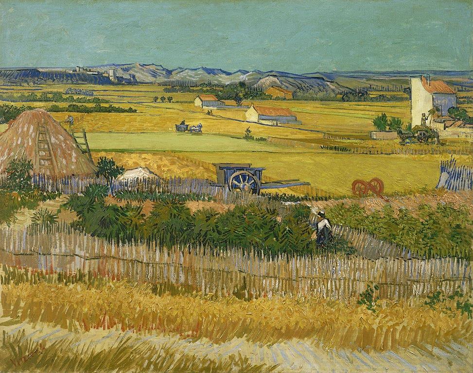 """""""La moisson"""" par van Gogh au Musée van Gogh dans le quartier des Musées d'Amsterdam."""