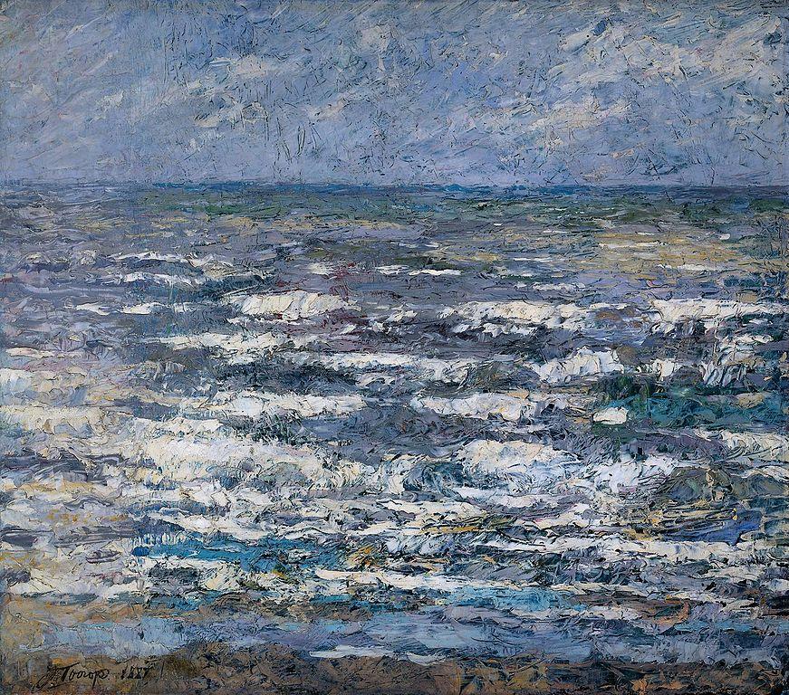 """Tableau de Jan Toorop """"La mer"""" (1887) au musée Rijksmuseum dans le quartier des musées à Amsterdam"""