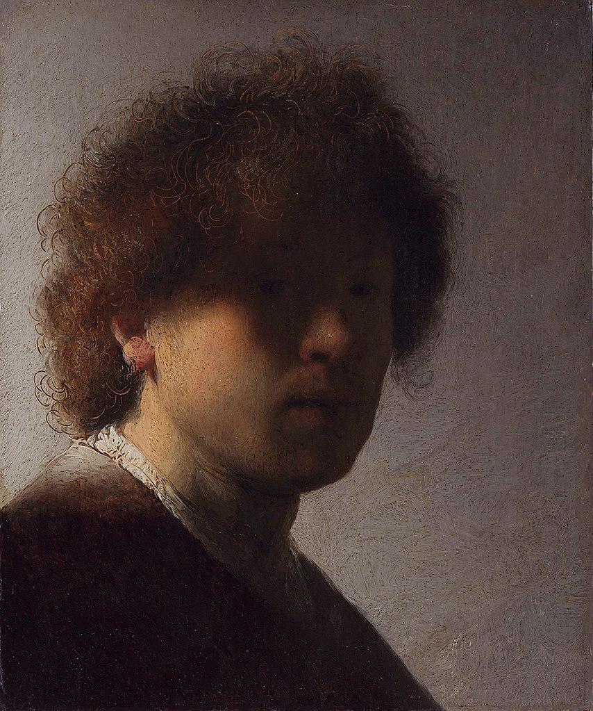 Autoportrait de Rembrandt (1628) au musée Rijksmuseum dans le quartier des musées à Amsterdam