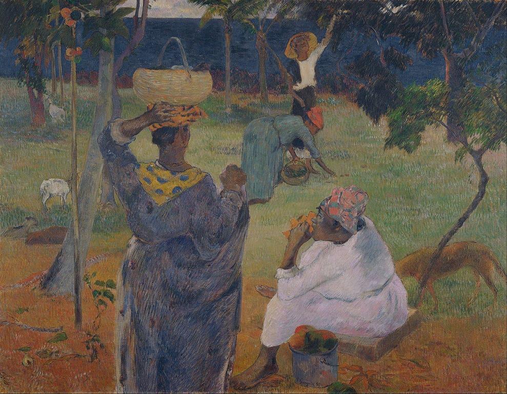 """""""Dans les arbres manguiers de la Martinique"""" par Paul Gauguin au Musée van Gogh dans le quartier des Musées d'Amsterdam."""