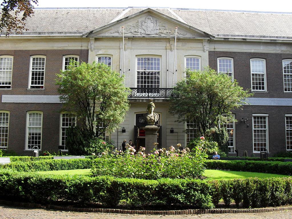 Jardin de l'Université d'Amsterdam dans le centre historique - Photo de Marcel Mulder