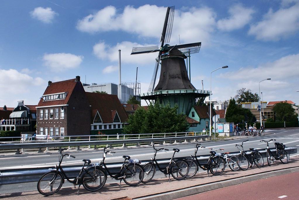 Moulin d'Amsterdam : Excursion en deux roues au Zaanse Schans avec Amsterdam-velo.com