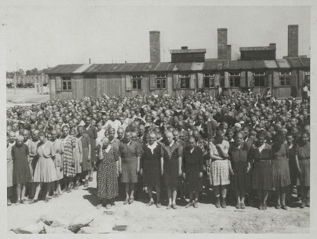 Appel dans le camp des femmes d'Auschwitz II Birkenau.