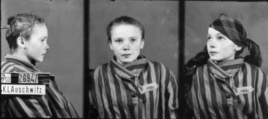 > Photo de Czeslawa Kwoka, jeune victime du camp nazi d'extermination d'Auschwitz près de Cracovie pris par le prisonnier Brasse.
