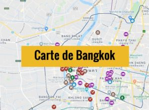 Carte de Bangkok (Thailande) : Plan détaillé gratuit et en français à télécharger