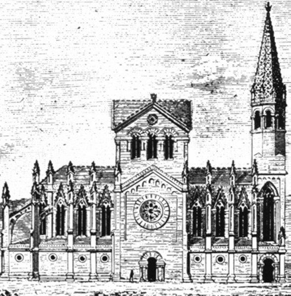 Projet de Francisco de Paula del Villar y Lozano, premier architecte de la Sagrada Familia à Barcelone (1882).