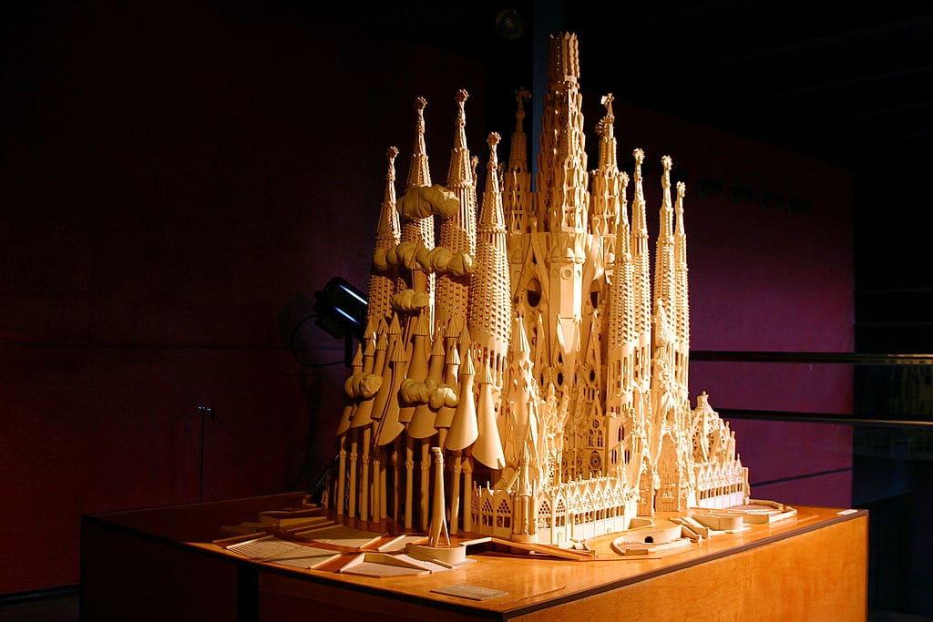 Maquette de la Basilique de la Sagrada Familia à Barcelone dans le musée d'histoire de Catalogne - Photo de José Luiz Bernardes Ribeiro