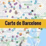 Carte de Barcelone (Espagne) : Plan détaillé gratuit et en français à télécharger