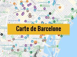 Carte de Barcelone : Plan détaillé gratuit et en français à télécharger
