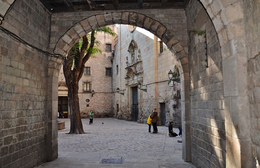 Place Sant Felip Neri dans le quartier du Gotico à Barcelone - Photo de Maria Rosa Ferre