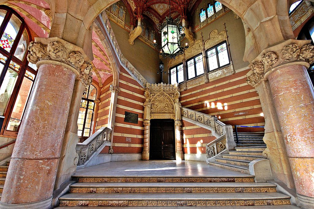 Dans l'ancien Hopital Sant Pau à Barcelone - Photo de Montse Poch
