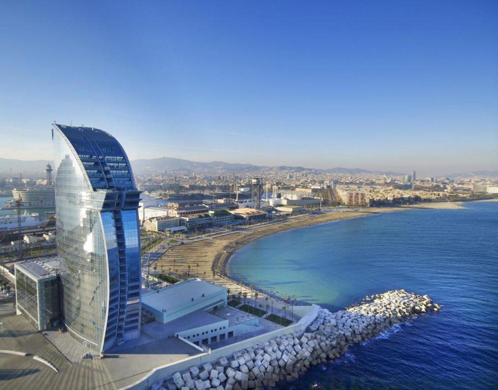 W Barcelona, hotel de luxe à Barcelone.