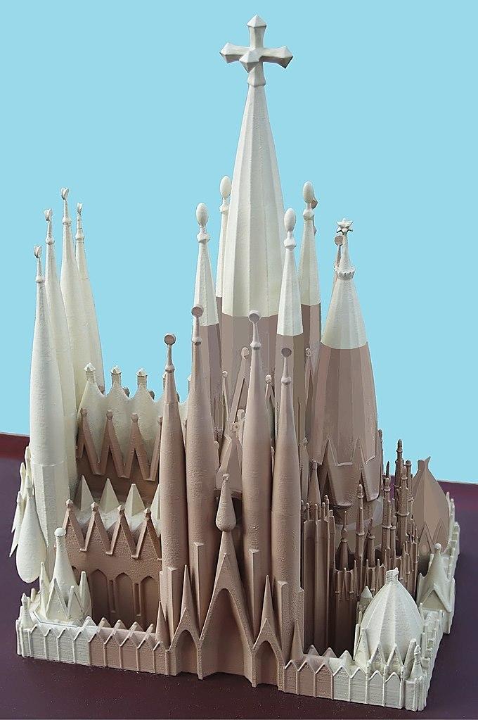 Maquette de la Sagrada Familia à Barcelone - Photo de Balou46 Io_Herodotus