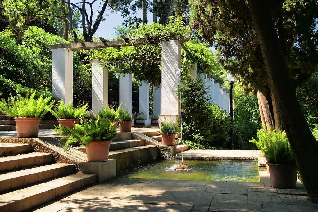 Jardin de Laribal dans la pente de la colline de Montjuic à Barcelone - Photo de Jorge Franganillo