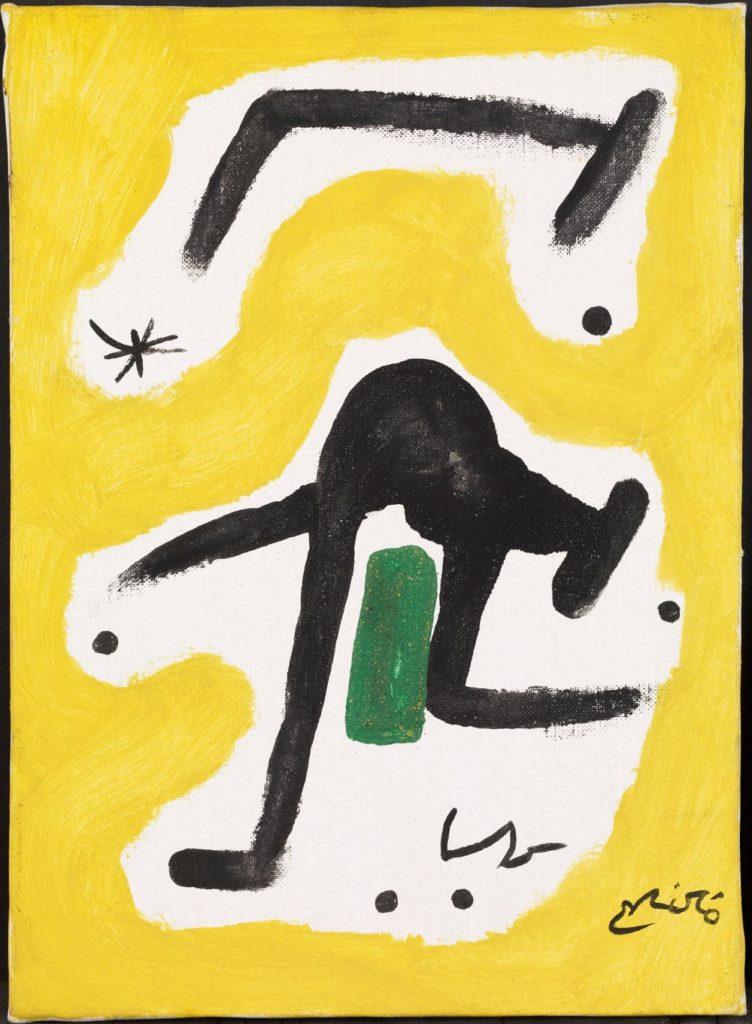 """""""Femme, oiseaux, étoile"""" (1978) de Joan Miro au musée Miro de Barcelone."""