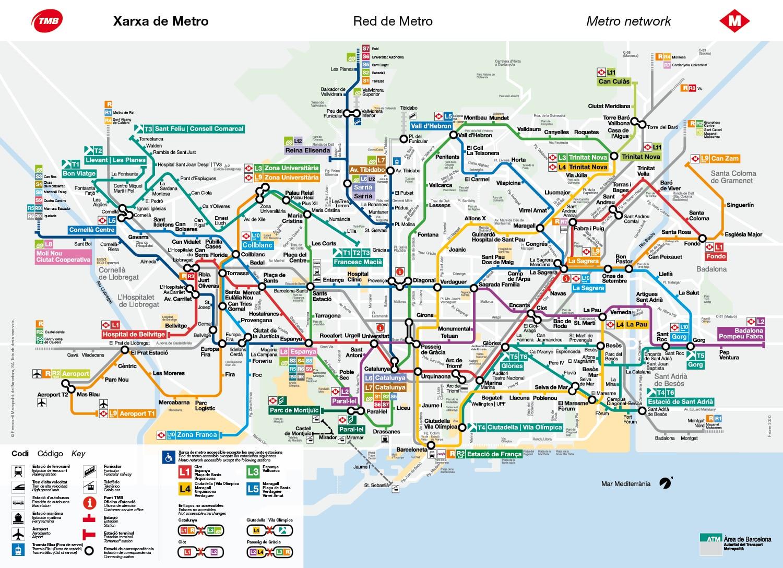Métro à Barcelone et transports en commun : Prix, carte et conseils