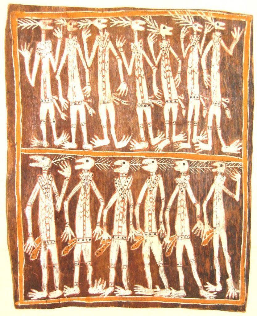 Objet australien dans le musée ethnologique de Barcelone dans le quartier de la Ribera.