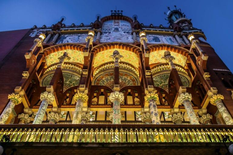 Palais de la musique dans le quartier de la Ribera à Barcelone - Photo de Jorge Franganillo